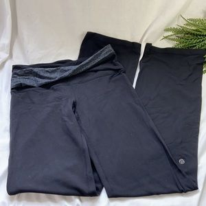 Black Lululemon Twisted Band yoga pants